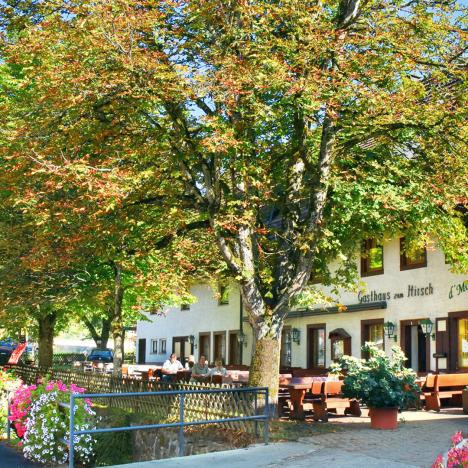 Idyllische Lage des Gasthaus Hirsch - in einem Seitental ohne Durchgangsstraße